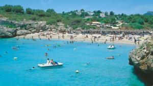 Beach at Callas De Mallorca.